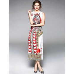 Shoespie Print Polyester Pullover Women's Maxi Dress