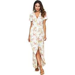 Shoespie Patchwork Regular V Neck Women's A-Line Dress