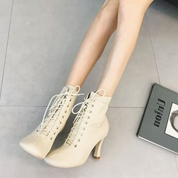 Square Toe Cross Strap Casual Ankle Boots