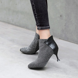 Casual Pointed Toe Side Zipper Ankle Boots