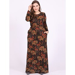Shoespie Plusee Polyester Floral Women's Maxi Dress
