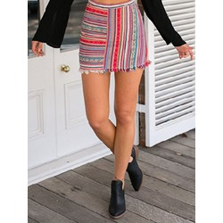 Mini Skirt A-Line Print Travel Look Women's Skirt