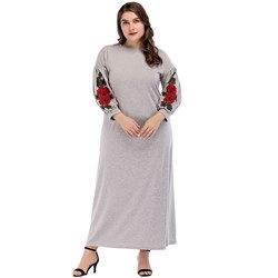 Shoespie Floral Embroidery Women's Maxi Dress