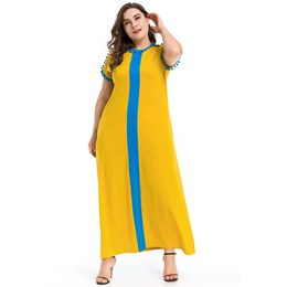 Shoespie Patchwork Pocket Stripe Women's Maxi Dress