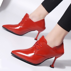 Pointed Toe Stiletto Heel Lace-Up Ankle Boots