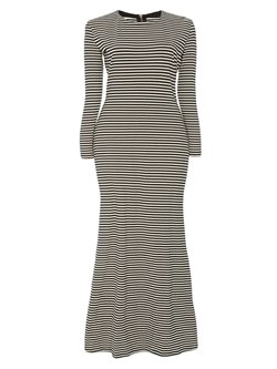 69ada2703e8 Color Block Stripe Plusee Women s Maxi Dress