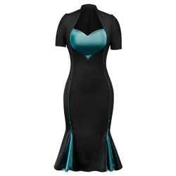 Shoespie Mermaid Button Women's Bodycon Dress