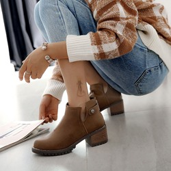 Shoespie Casual Round Toe Fashion Ankle Boots