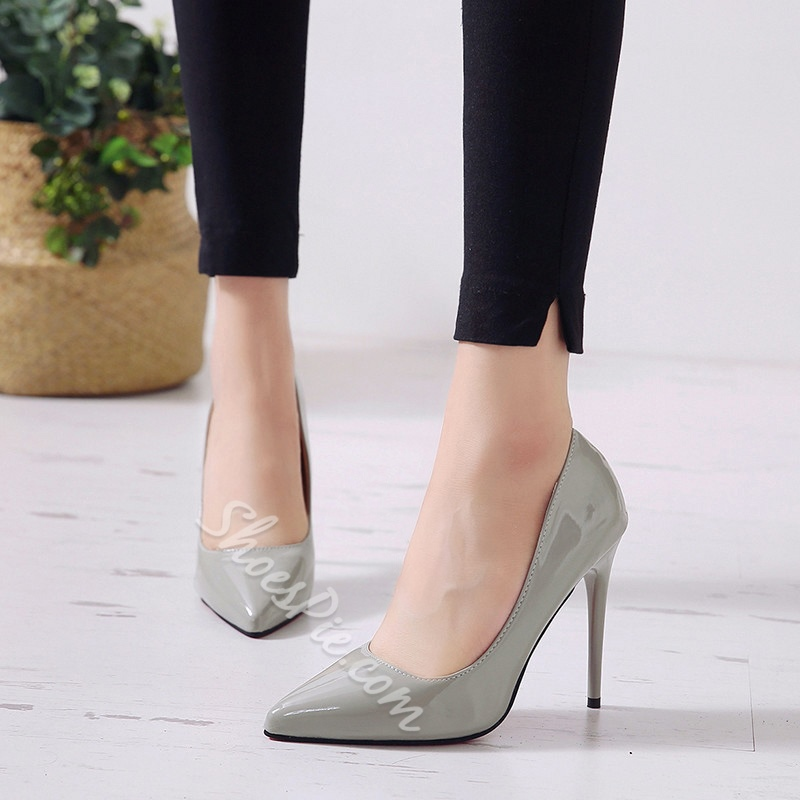 Pointed Toe Casual Slip-On Stiletto Heels