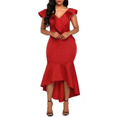 Shoespie Falbala Ladylike Women's Bodycon Dress