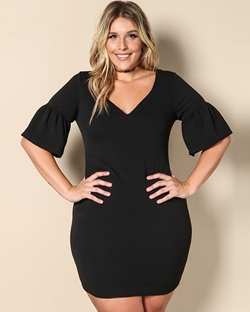 Shoespie Polyester Pullover Black Women's Bodycon Dress
