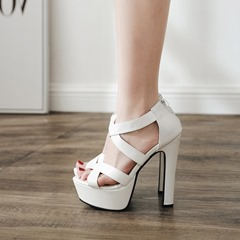 Zipper Peep Toe Platform High Heels
