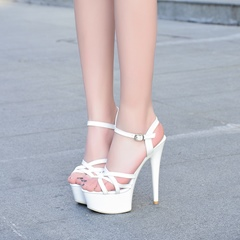 Buckle Ankle Strap Platform Stiletto Heels