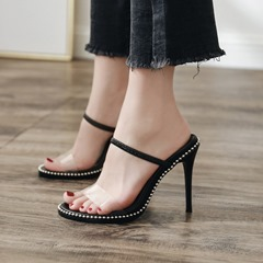 Black Flip Flop Stiletto Heels