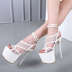 Hollow Platform Buckle Peep Toe Stiletto Heels