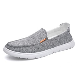 Canvas Round Toe Slip-On Men's Loafers