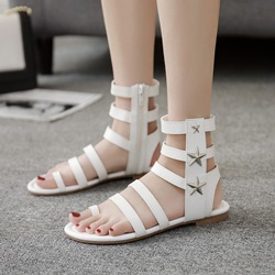 Star Rivet Ankle Strap Gladiator Sandals