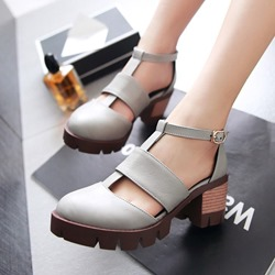 T-Shaped Buckle Round Toe Dress Sandals