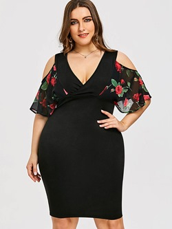 Shoespie Hollow Plusee Woomen's Bodycon Dress