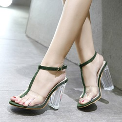 Buckle Jelly Strappy Casual High Heels