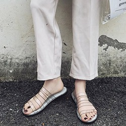 Jelly See-Through Flip Flop Flat Sandals