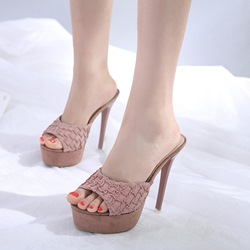 Slip-On Platform Stiletto Mules Shoes