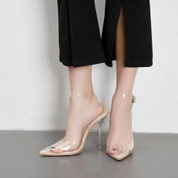 Jelly Light Apricot Pointed Toe Stiletto Heels