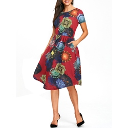 Shoespie Print Regular Women's A-Line Dress