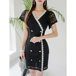 Shoespie Office Lady V Neck Women's Bodycon Dress