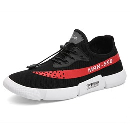 Elastic Band Low Upper Mens's Sneakers