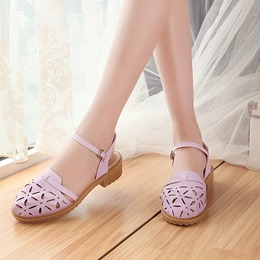 Cute Ankle Strap Closed Toe Dress Sandals