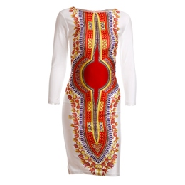 Shoespie Print Split Women's Bodycon Dress