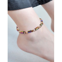 Colorful Magnetite Beads Anklets