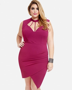 Shoespie Polyester Asymmetrical Women's Bodycon Dress