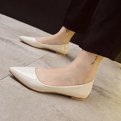 Plain Slip-On Pointed Toe Loafers