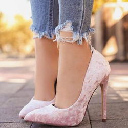 Pink Suede Pointed Toe Stiletto Heels
