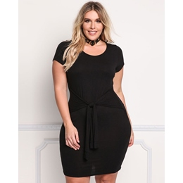 Shoespie Black Polyester Pullover Women's A-Line Dress
