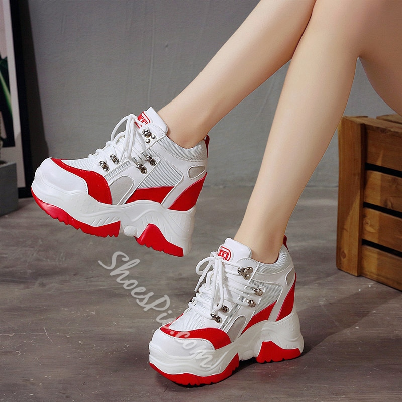 Newchic Mesh Women's Wedge Sneakers