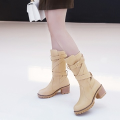 Platform Buckle Fashion Knee High Boots