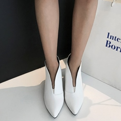 Classic Pointed Toe Kitten Heel Ankle Boots