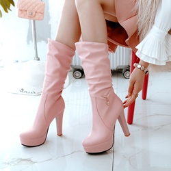 Rhinestone Platform Casual Round Toe Ankle Boots