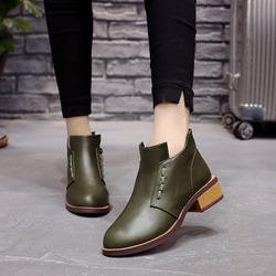 Shoespie Casual Round Toe Ankle Boots