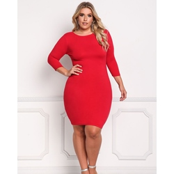 ShoespieThree-Quarter Sleeve Polyester Women's Bodycon Dress