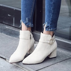 Shoespie Casual Rhinestone Ankle Boots