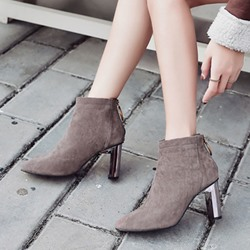 Suede Thread Casual Ankle Boots