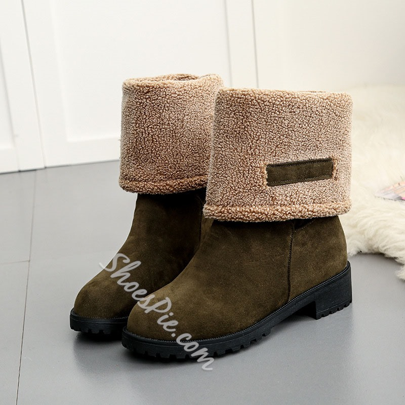 Shoespie Thread Suede Casual Ankle Boots