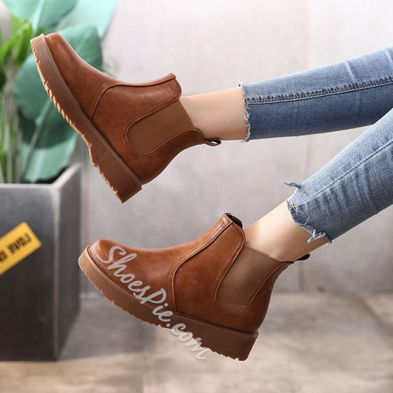 Casual Thread Fashion Chelsea Ankle Boots