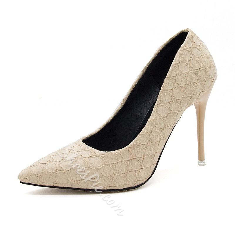 Alligator Pattern Pointed Toe Stiletto Heels