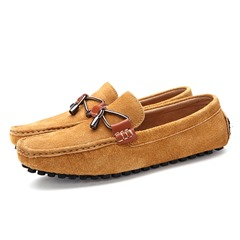 Bow Thread Casual Slip-On Men's Loafers