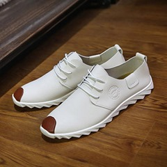 Plain Thread Lace-Up Men's Loafers